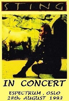 Концерт Стинга в Осло в 1993 году