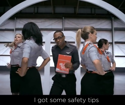 Рекламный ролик компании Virgin America (Virgin America Safety Video) и участие Тодрика Холла (Todrick Hall)
