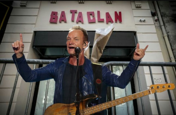 """Концерт Стинга в Париже, в клубе Батаклан, 2016 год, с программой альбома """"57th & 9th"""""""