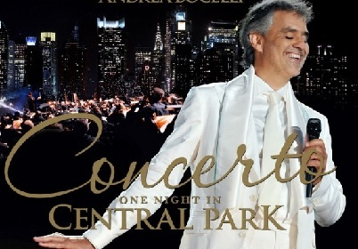 Концерт Андреа Бочелли в Центральном парке Нью-Йорка.