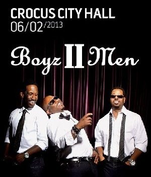 Второй в истории концерт Boyz II Men в Москве в Crocus City Hall (Крокус Сити Холл)